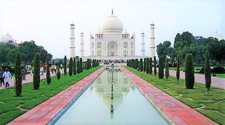 Landscape view of the Taj Mahal