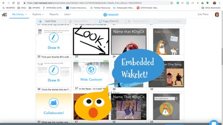 An Embedded Wakelet shown within Nearpod