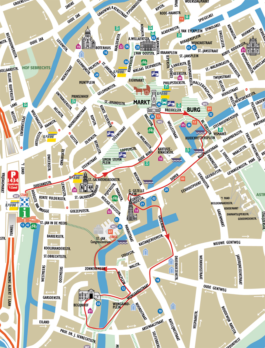 Bruges City Tourist Map Sportstlecom