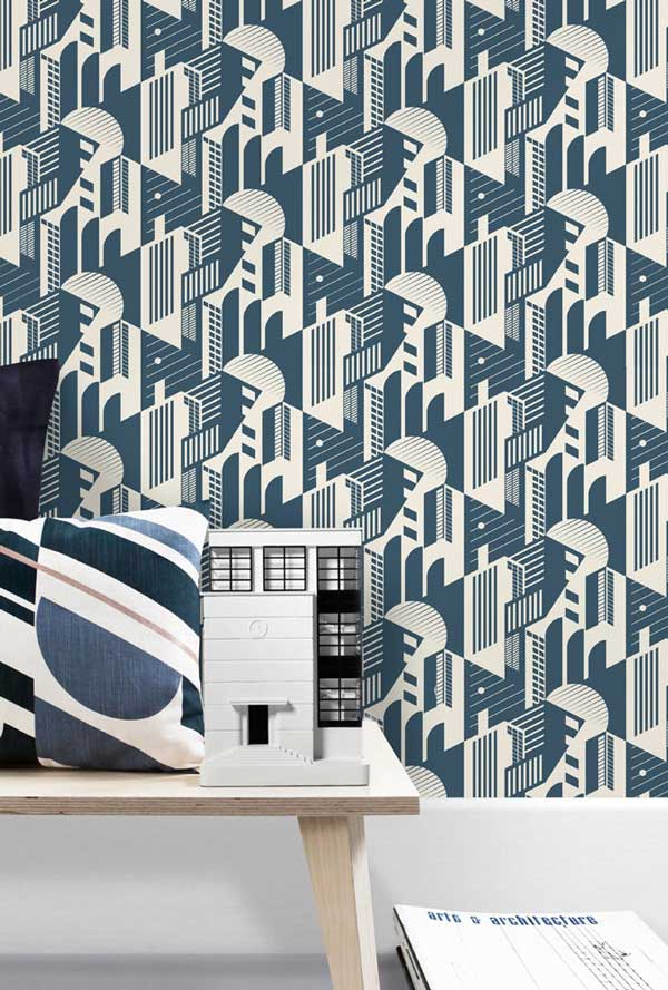 Bauhaus wallpaper by Mini Moderns at wallpaperdirect