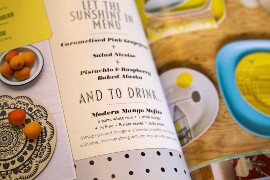 Mango Mojito – a drink to celebrate your decorating from Mini Moderns