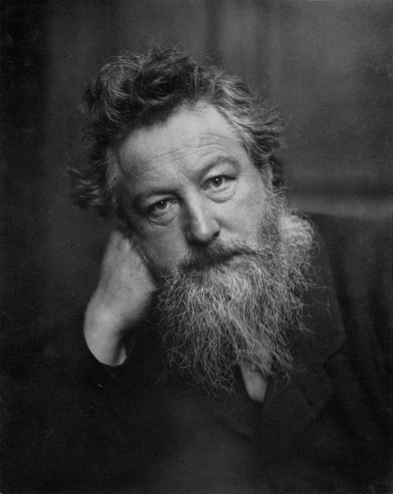 A portrait of William Morris aged 53