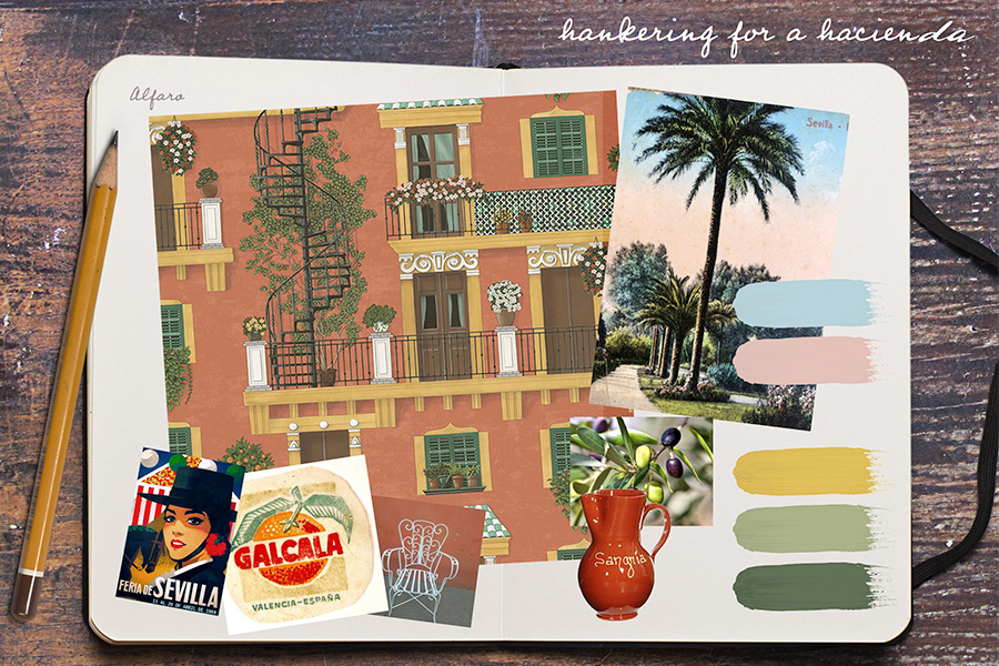 Hankering for a Hacienda – Seville by Cole & Son