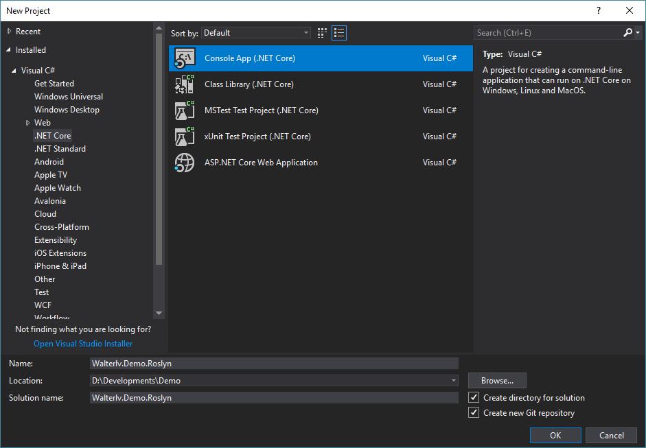 Roslyn 入門:使用 .NET Core 版本的 Roslyn 編譯并執行跨平臺的靜態的源碼 - walterlv