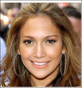 Jennifer Lopez looks visually pleasing with teeth the same color as the whites of her eyes