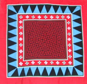 Quilted Wallhanging, anonymous quilter