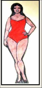 Body shape with a defined waistline (waist 6 or 7 inches smaller than hips