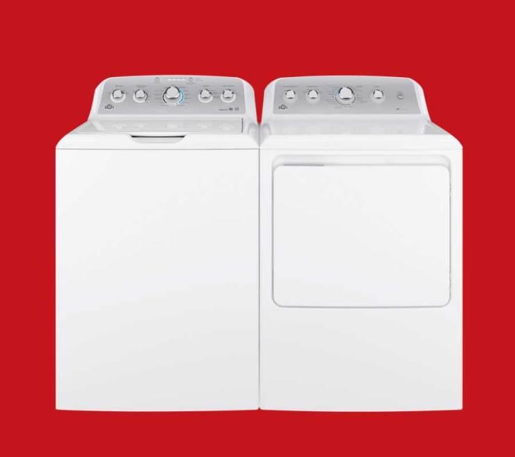 white GE laundry pair