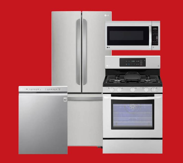 Stainless Steel LG Kitchen Appliances