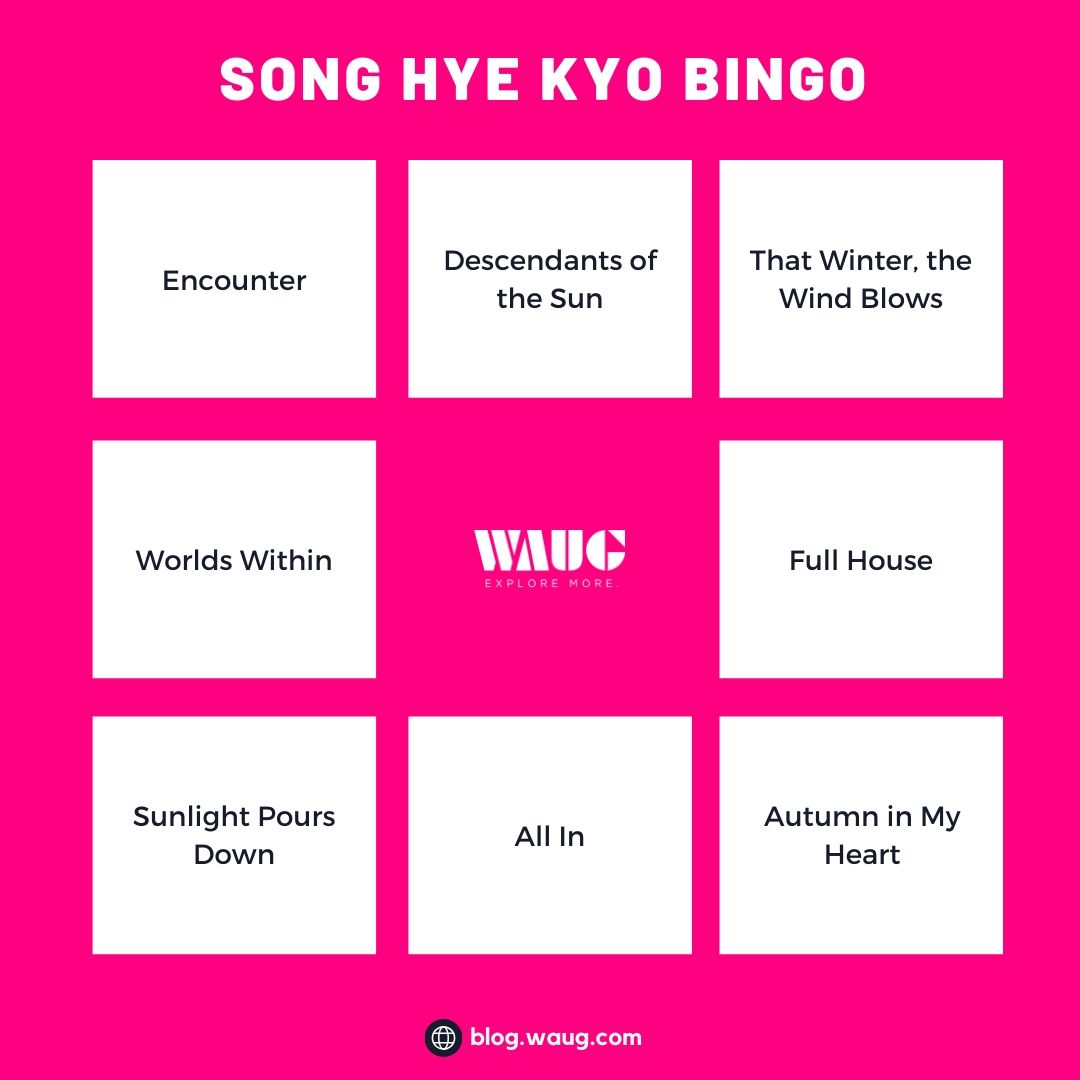 k-drama-bingo-card-song-hye-kyo