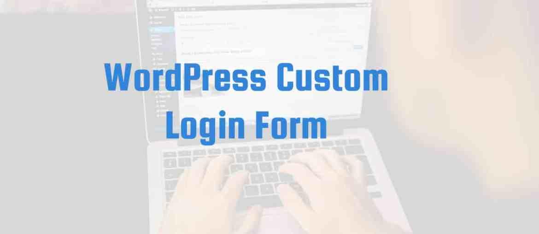 WordPress Custom Login Form Made with DesignCap