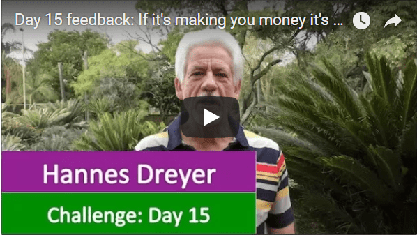[Day 15] Feedback: If It's Making You Money It's Costing You Nothing…