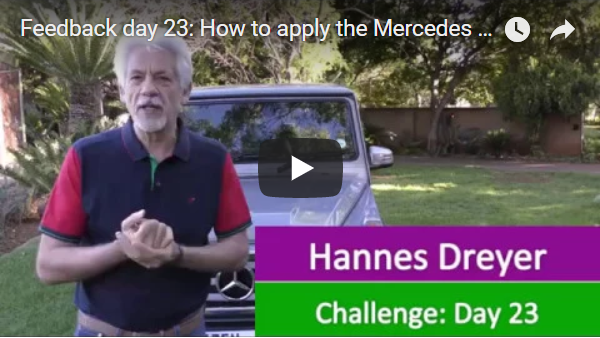 [Day 23] How To Apply The Mercedes Principle To Become Financially Free…