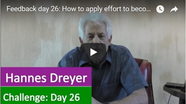 [Day 26] How To Apply Effort To Become Financially Free.
