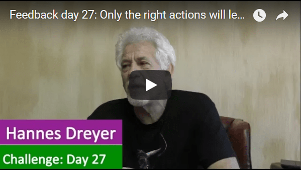 [Day 27] Only The Right Actions Will Lead To Financial Freedom