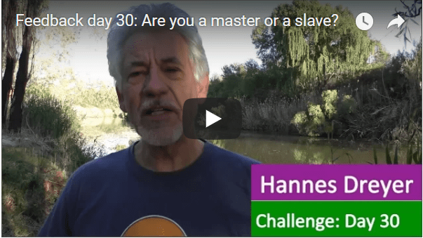 [Day 30] Are You A Master Or A Slave?