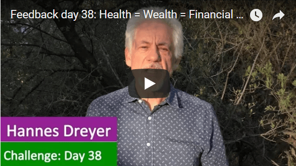 [Day 38] Health = Wealth = Financial Freedom