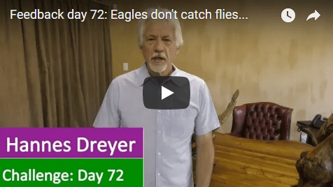 [Day 72] Eagles Don't Catch Flies…