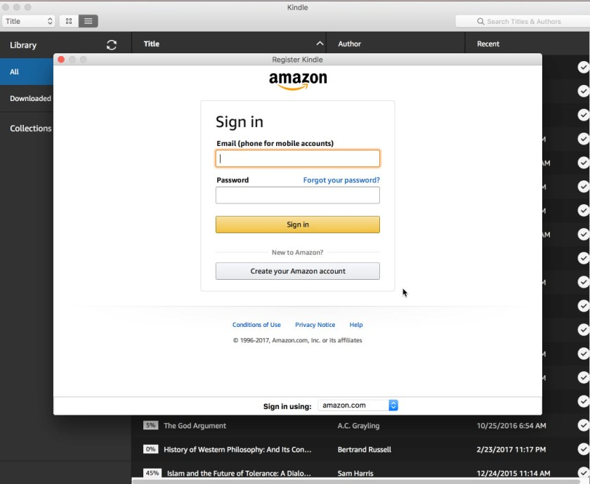 Amazon Kindle app on OS X is a hopeless mess, as is user support
