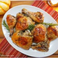 Chicken Roasted with White Wine #SundaySupper