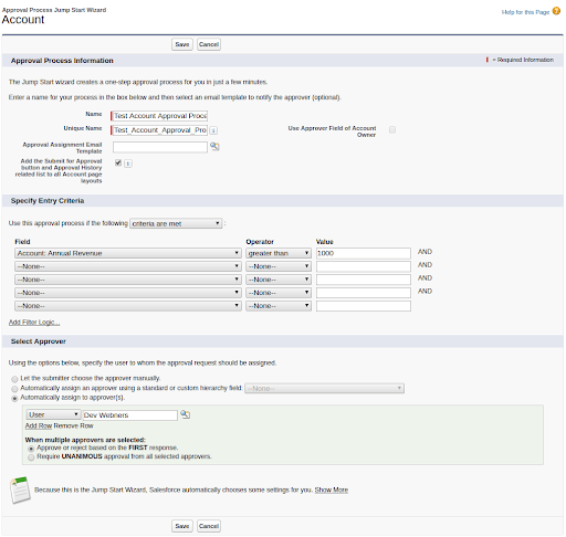 Approval Process in Salesforce