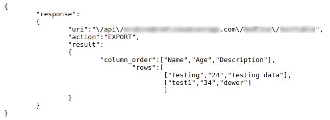 API through CURL