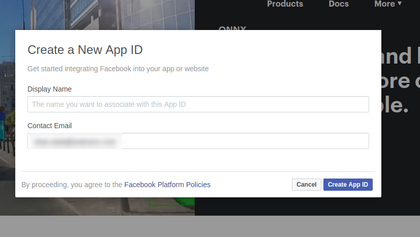 Login With Facebook in PHP
