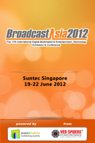 CommunicAsia 2012 and BroadcastAsia 2012 Will Be Utilizing Event2Mobile Powered Apps