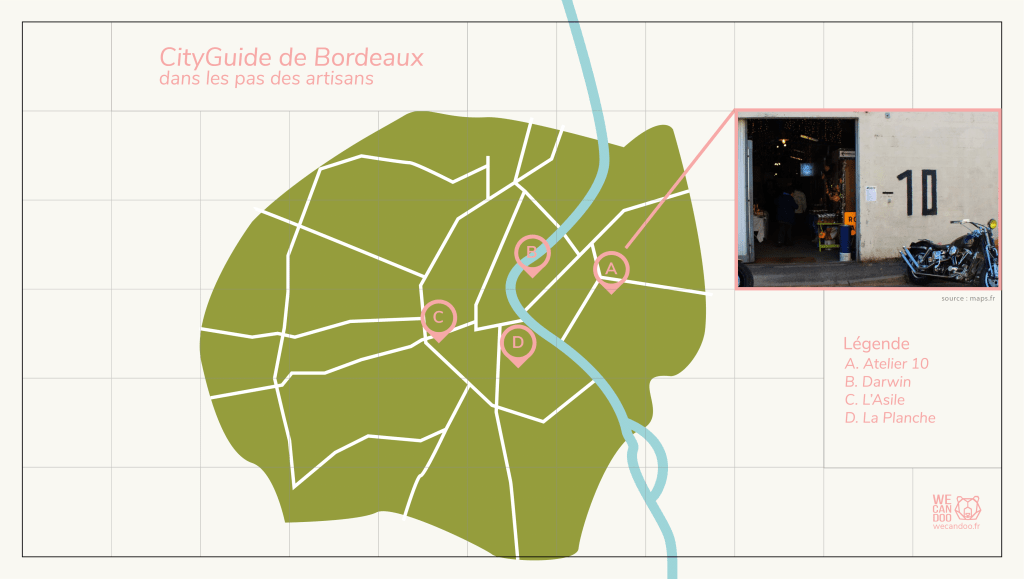 Carte Bordeaux artisanat atelier 10