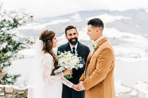 Breckenridge elopement at Sapphire Point Overlook