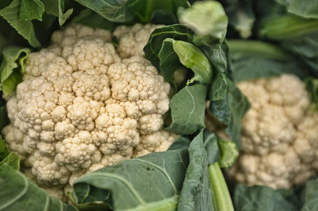 Cauliflower as vegetable high in fiber