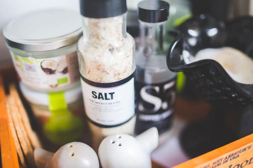 bottle of salt