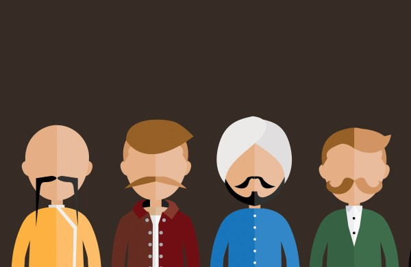 cultural men with moustache for movember