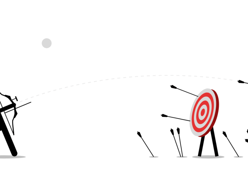 missing the target