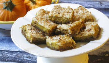 Pumpkin Coconut Squares are scrumptious treat for Halloween