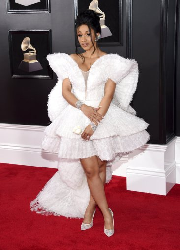 Lots of black but also pops of glitz in Grammys fashion