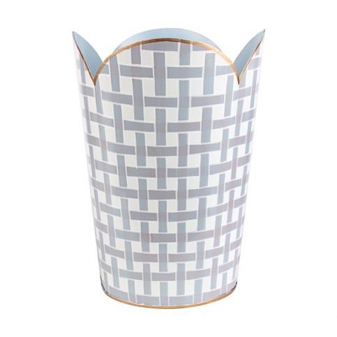 BasketWeave Lavender Tulip Wastebasket