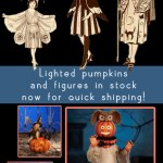 Get Spooky with New Halloween Decor! Lighted Pumpkin Houses!