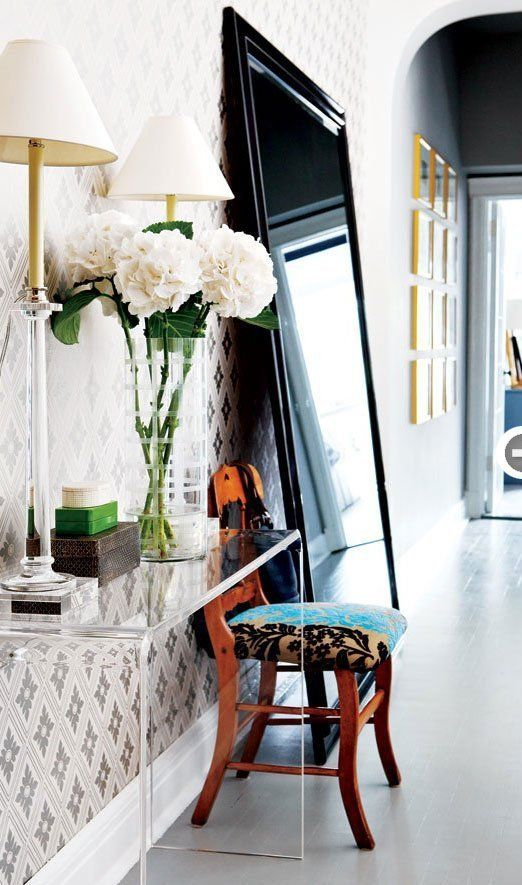Spring 2016 Decor Trends Loco for Lucite The Well  : Lucite Console Table Lucite Decor Apartment Therapy from blog.wellappointedhouse.com size 522 x 885 jpeg 85kB