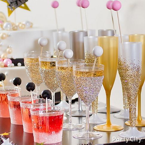Glitter Bomb Your Glassware!