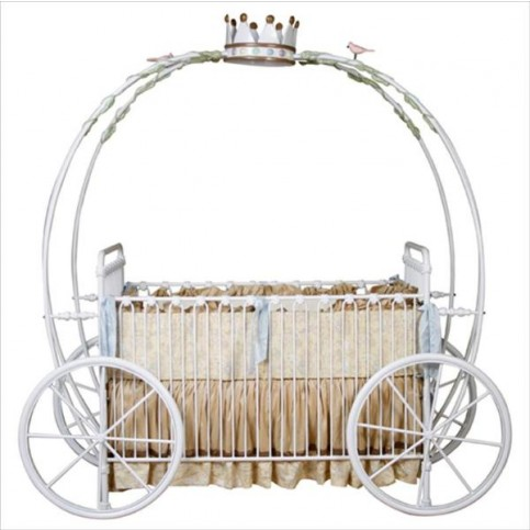Princess Carriage Crib with Crown