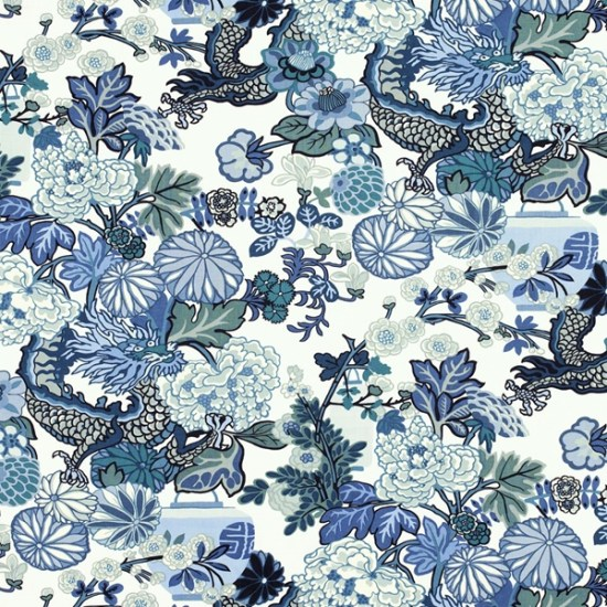 Schumacher-Chiang-Mai-Dragon-Wallpaper-China-Blue