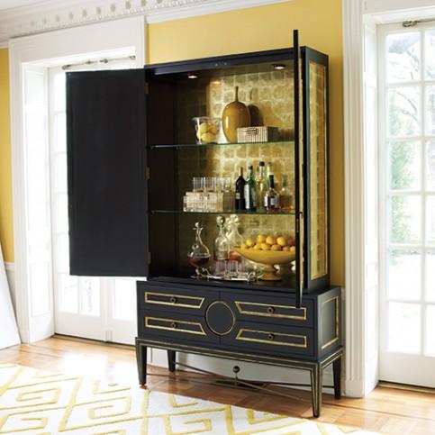bar cabinet black