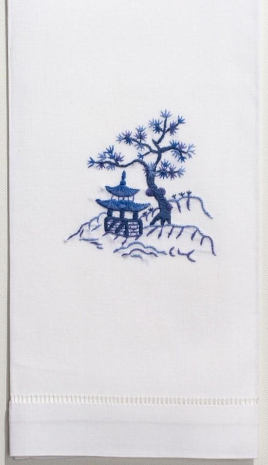 blue-pagoda-hand-towel-2