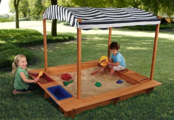 children-outdoor-sandbox-canopy-wood