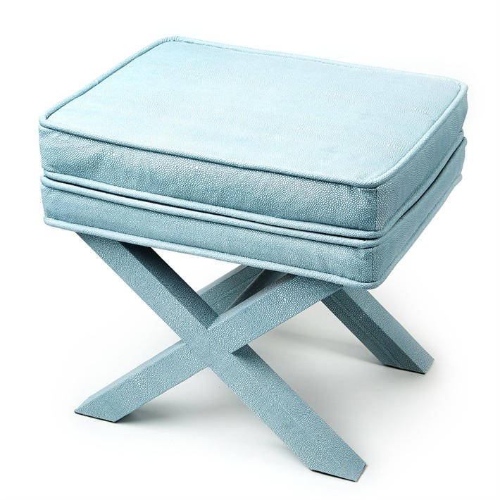 french_blue_shagreen_x_bench