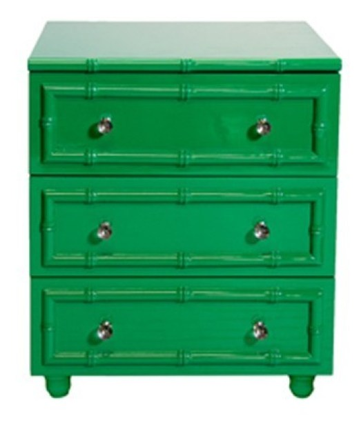 green-lacquer-bamboo-nightstand
