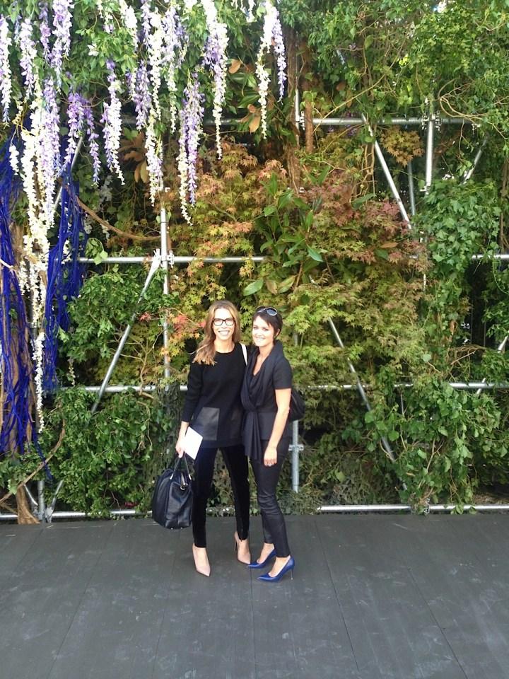 Carina Crain and Wendy Reyes at Dior Paris Fashion Show September 2013