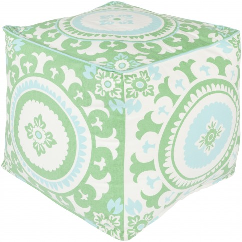 kelly-green-ivory-and-mint-cotton-pouf-1