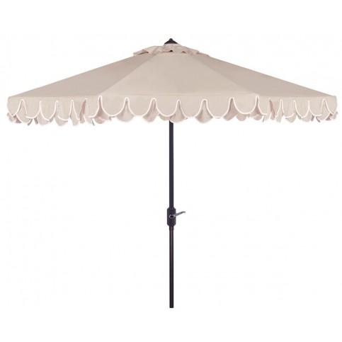 Safavieh Elegant Valance 9 Feet Umbrella In_beige And